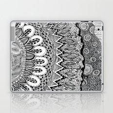 Black and White Doodle Laptop & iPad Skin