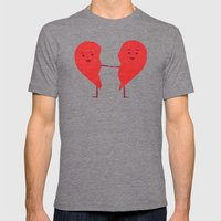 The Course of Love Mens Fitted Tee Tri-Grey SMALL