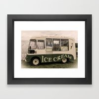 Scream For Vintage Ice C… Framed Art Print