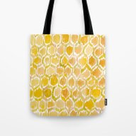 Golden Honeycomb Tote Bag