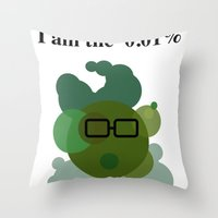 Wall Street Bacteria Throw Pillow