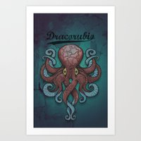 Dracorubio Dectapuss Case Art Print