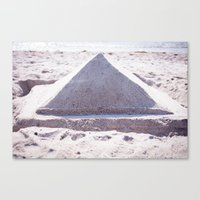 Sandy Triangle  Canvas Print