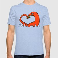 monster love Mens Fitted Tee Tri-Blue SMALL