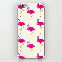 Gold Flamingo iPhone & iPod Skin