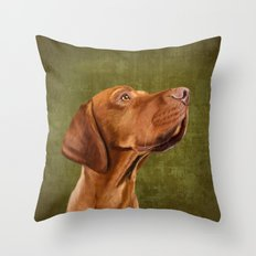 Magyar Vizsla portrait Throw Pillow