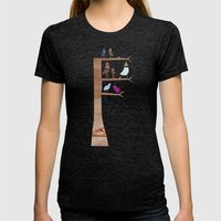 Birds Womens Fitted Tee Tri-Black SMALL