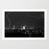 City Lightning Art Print