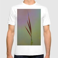 Water Reed Art Mens Fitted Tee White SMALL