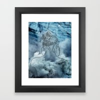 Lonely Woman Framed Art Print