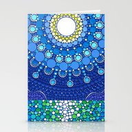 Stationery Cards featuring Full Moon Splendour by Elspeth McLean