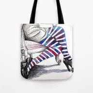 Seated Stripes Tote Bag