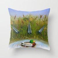 Sitting Duck Throw Pillow