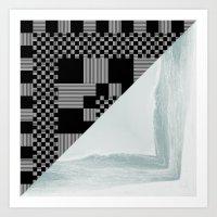 waves/grid #9 Art Print