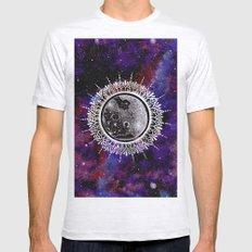 Galaxy Moon Mandala Mens Fitted Tee Ash Grey SMALL