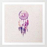 Girly Pink Purple Dream … Art Print