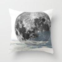 Low Moon Throw Pillow
