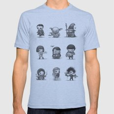 Famous Characters Mens Fitted Tee Athletic Blue SMALL