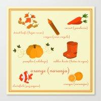 Colors: Orange (Los Colo… Canvas Print