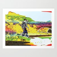 Snow Boarding Art Print