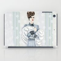 Woman With Fur  iPad Case