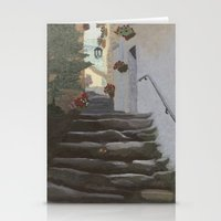 Italian Street And Stair… Stationery Cards