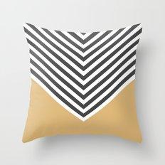 Gold Chevron Throw Pillow