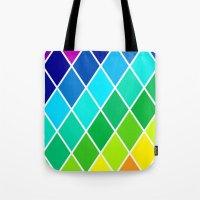 Tetrahedral Rainbow Tote Bag
