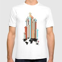Glue Network Print Serie… Mens Fitted Tee White SMALL