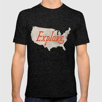 Explore Mens Fitted Tee Tri-Black SMALL