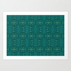paisley pattern 3 Art Print