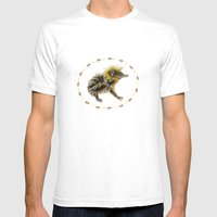 The Lowland Streaked Tenrec Mens Fitted Tee White SMALL