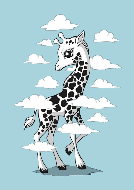 Wandering Giraffe Art Print