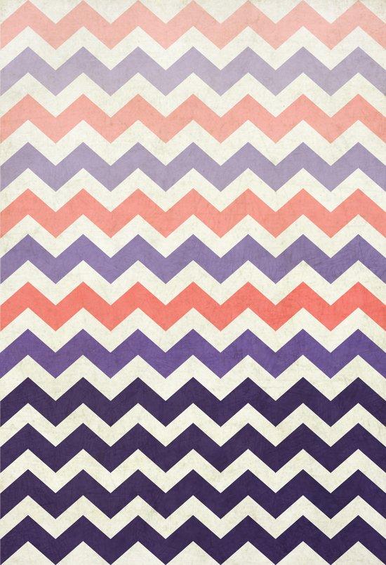 Pink Purple Chevron Art Print