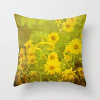 Flowers of the Field Throw Pillow