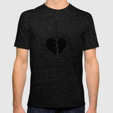 Mending a Broken Heart Mens Fitted Tee Tri-Black SMALL