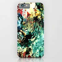 zebra iPhone & iPod Cases featuring ZEBRA by RIZA PEKER