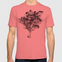 Tree and Gangster Mens Fitted Tee Pomegranate SMALL