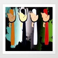Girls Swings Art Print