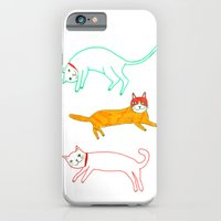 Lying cats iPhone 6 Slim Case