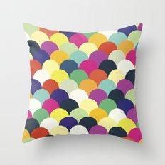 Colorful Circles Throw Pillow