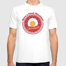 Food Morning! Mens Fitted Tee White SMALL