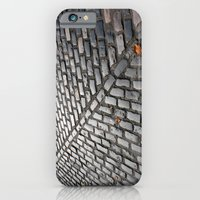 Leaves on cobblestones iPhone 6 Slim Case