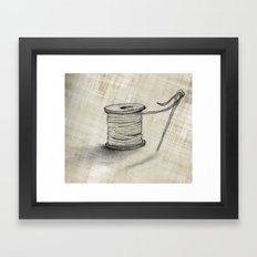 Sewing Time Framed Art Print