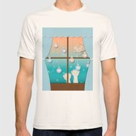 The Christmas Window Mens Fitted Tee Natural SMALL