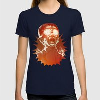 FIREEE! Womens Fitted Tee Navy SMALL