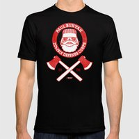 Paul Bunyan Zombie Defen… Mens Fitted Tee Black SMALL