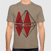 Geometric Mens Fitted Tee Tri-Coffee SMALL
