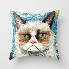 Grumpy Cat Is Still Grum… Throw Pillow