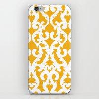 Modern Baroque Yellow iPhone & iPod Skin